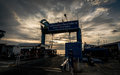KOH SAMUI, THAILAND - DEC 24 : Ferry port during sunset in Koh S Royalty Free Stock Photo