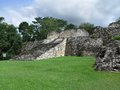 Kohunlich ruins of a mayan temple in mexico Royalty Free Stock Image
