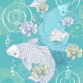 Koi carp seamless pattern Stock Photography