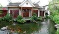 Koi pond garden Royalty Free Stock Photo
