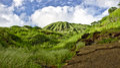 Koko head on oahu hawaii the crater is a popular hiking destination near honolulu Royalty Free Stock Photography
