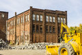 Kokomo - Circa October 2016: Former Automotive Warehouse Demolition. Old Rust Belt Factories Make Way for New Construction I Royalty Free Stock Photo
