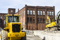 Kokomo - Circa October 2016: Former Automotive Warehouse Demolition. Old Rust Belt Factories Make Way for New Construction II Royalty Free Stock Photo
