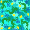 Kokopelli Background Tile Royalty Free Stock Photo