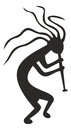 Kokopelli - tribal vector symbol, fertility deity
