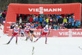 Kokslien mikko nor winner at the individual gundersen in chaux neuve fra fis nordic combined world cup Stock Photos