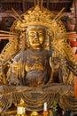 Kokuzo Bosatsu at Daibutsu den of Todaiji Temple in Nara Royalty Free Stock Photo
