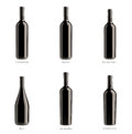 Kolekcja butelki czerwone wino Obrazy Royalty Free