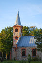Kolka evangelical lutheran church latvia europe interesting nice church located near baltic sea was built end th century takes Stock Images