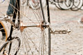 Kolo old velocipede treadle czech republic Royalty Free Stock Image
