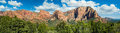Kolob summits panorama the majestic landscape of the canyons region of zion national park is displayed in Royalty Free Stock Photos