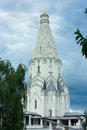 Kolomenskoe moscow beautiful chapel of ascension in a park in and a great tourist attraction Stock Photography