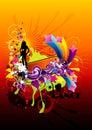 Kolor abstrakcjonistyczna fantazja Obraz Royalty Free