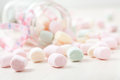 Kolorowi marshmallows Fotografia Royalty Free