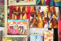 Kolorowi obrazy eksponujący dla sprzedaży Obrazy Royalty Free