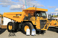 Komatsu HD605 Rigid Dump Truck on Display Royalty Free Stock Photo