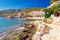 Komiza on Vis island coastline Royalty Free Stock Photo