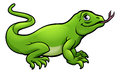 Komodo Dragon Lizard Cartoon Character Royalty Free Stock Photo