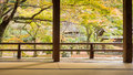 Komyozenji temple rear rock garden Royalty Free Stock Photo