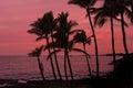 Kona sunset Big Island Hawaii Royalty Free Stock Photo