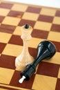 Koncepcja chess moc Obrazy Royalty Free