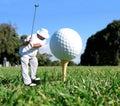 Koncepcja golf Fotografia Royalty Free