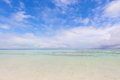 Kondoi beach at taketomi island, japan Royalty Free Stock Photo