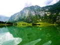 Konigssee lake bavaria germany emerald Royalty Free Stock Photography