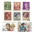 Koningin Elizabeth Stamps Stock Afbeeldingen