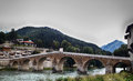 Konjic bridge old stone design of in place herzegovina Royalty Free Stock Image