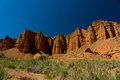 Konorchek canyons near to boom gorge amazing of and the dark blue sky in kyrgyzstan Stock Image