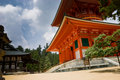 Konpon Daito Pagoda in Mount Koya, Japan Royalty Free Stock Photos