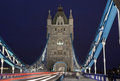 Kontrollturm-Brücke in London Stockbild