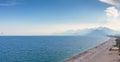 Konyaalti Beach view Antalya, Turkey Royalty Free Stock Photo