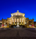 Konzerthaus in berlin germany concert house at night Royalty Free Stock Photography