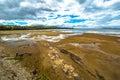 Koonya tasman peninsula nubeena road wild drammatic landscape with cloudy sky and rocky beach in the in tasmania australia Royalty Free Stock Photography