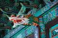 Koreański świątynny szczegół, dragon rzeźba Obrazy Royalty Free