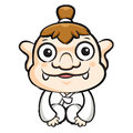 Korea goblin mascot is a polite greeting korea traditional cult cultural character design series Royalty Free Stock Image