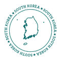 Korea, Republic of vector map.