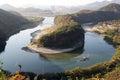 Korea shaped peninsula at yeongwol gun gangwon do south Royalty Free Stock Photos