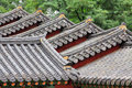 Korea Traditional Architecture Roof Royalty Free Stock Photo
