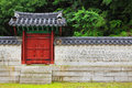 Korea traditional architecture wall in the gyeongheuigung Stock Images
