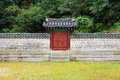 Korea traditional architecture wall in the gyeongheuigung Stock Photography