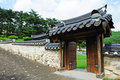 Korean ancient wall and gate Royalty Free Stock Photography
