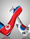 Korean arm wrestling Royalty Free Stock Photo
