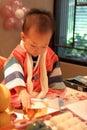 Korean baby on his first birthday Royalty Free Stock Photo