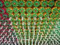 Korean buddhist temple decorations Royalty Free Stock Photo