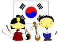 Korean culture korea flag Royalty Free Stock Images