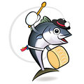 Korean dance a tuna Character Design Stock Image