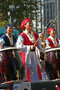 Korean drum festival three south women perform at the in seoul Stock Images